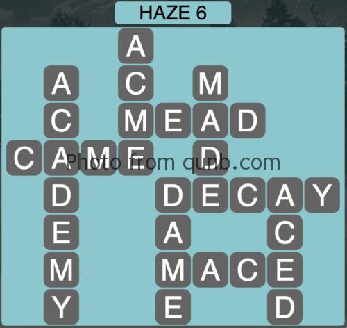 Wordscapes Haze 6 (Level 902) Answers