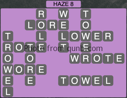 Wordscapes Haze 8 (Level 904) Answers