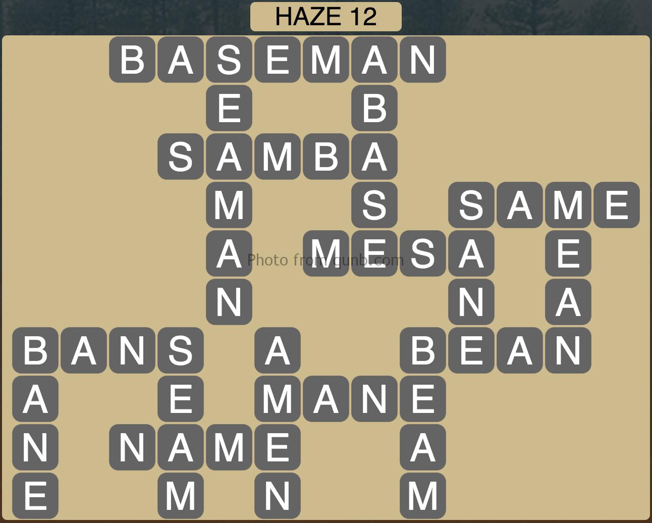 Wordscapes Haze 12 (Level 908) Answers