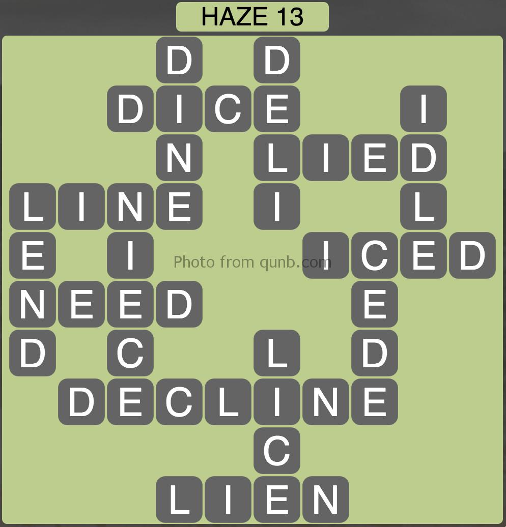 Wordscapes Haze 13 (Level 909) Answers
