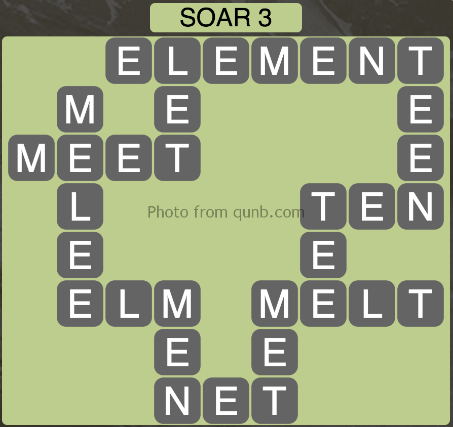 Wordscapes Soar 3 (Level 915) Answers