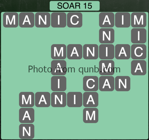 Wordscapes Soar 15 (Level 927) Answers