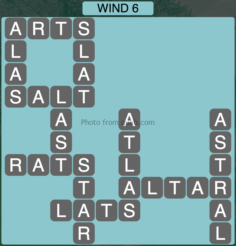Wordscapes Wind 6 (Level 934) Answers