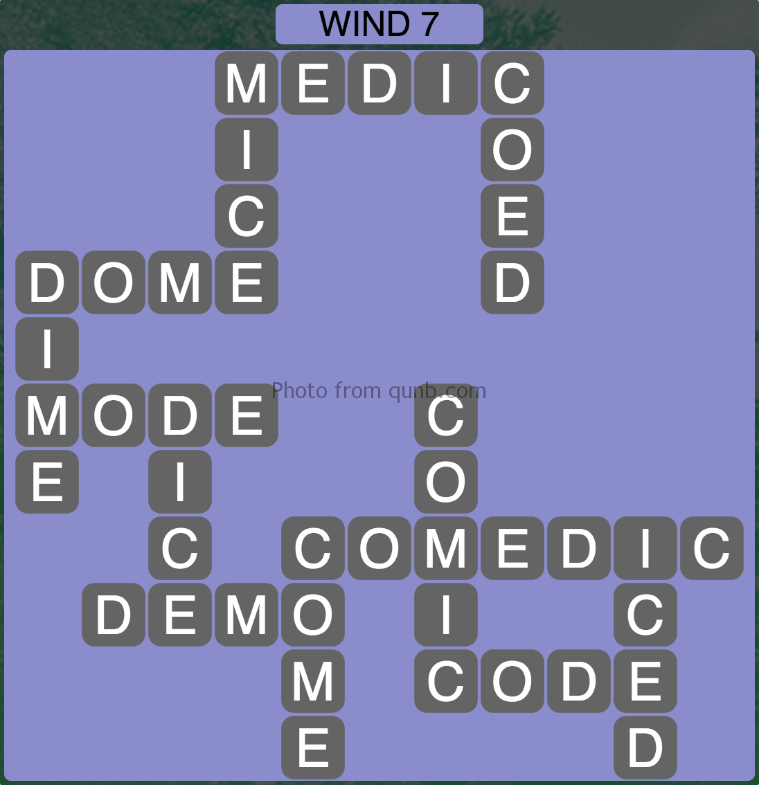Wordscapes Wind 7 (Level 935) Answers