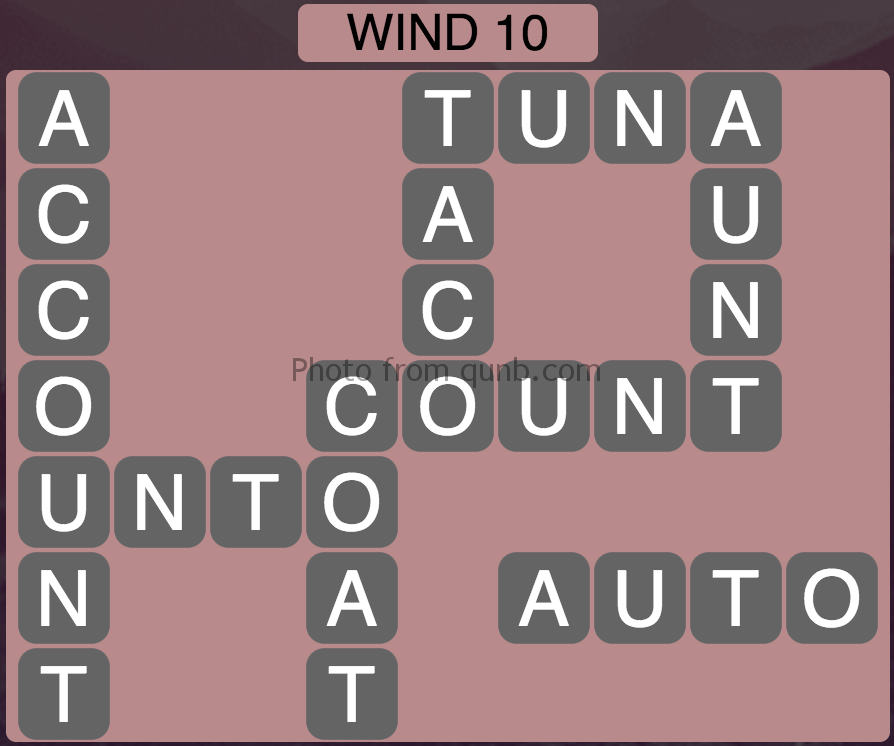 Wordscapes Wind 10 (Level 938) Answers