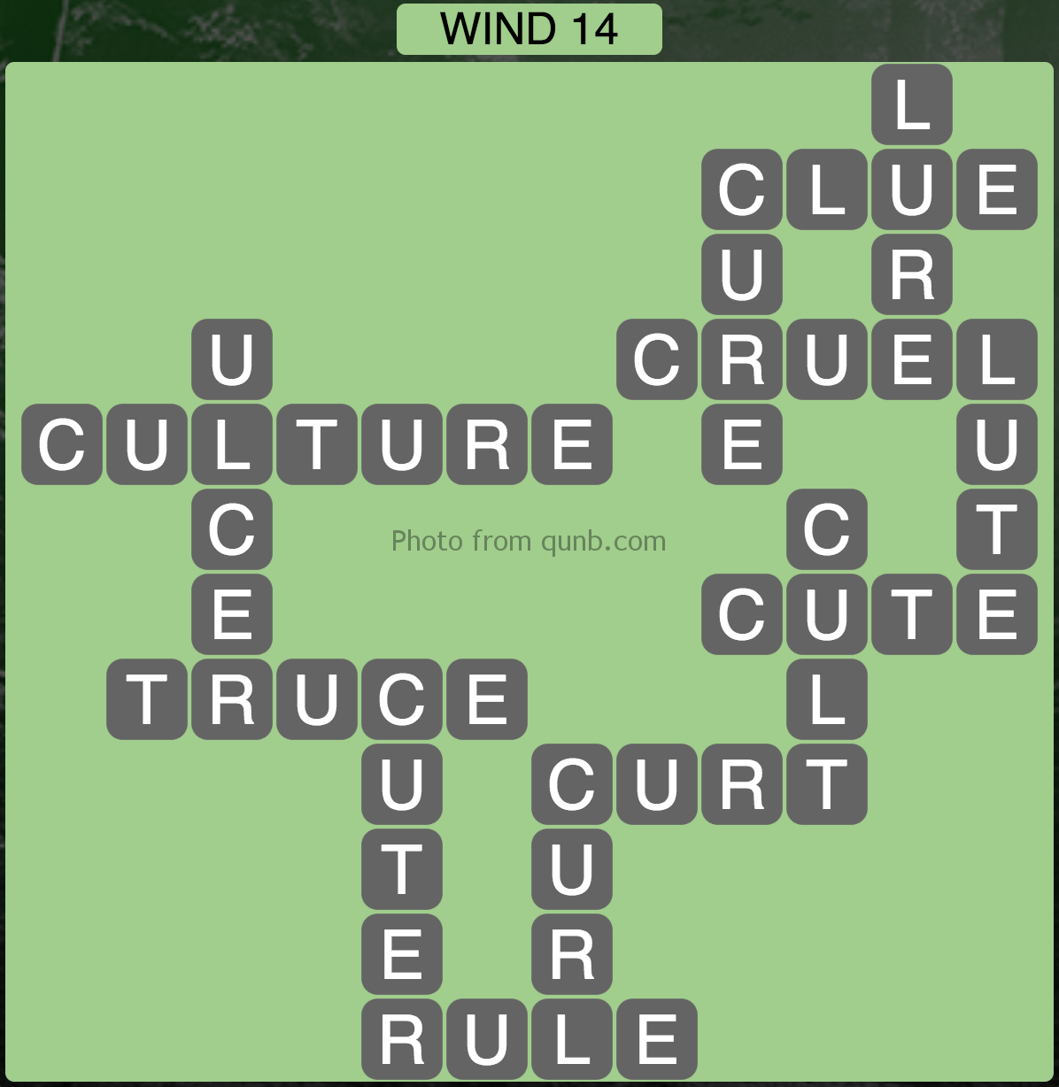 Wordscapes Wind 14 (Level 942) Answers