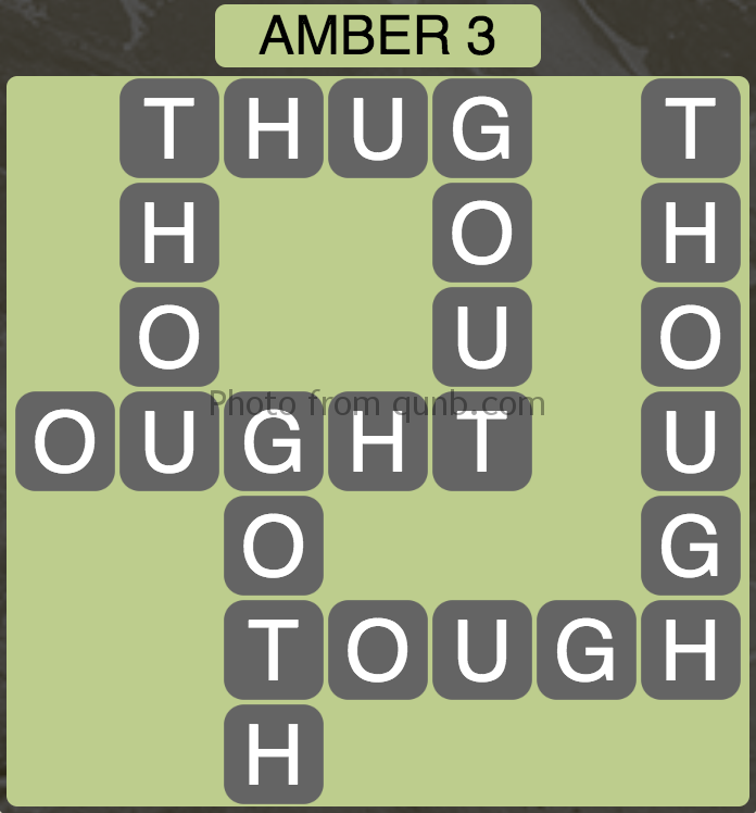 Wordscapes Amber 3 (Level 947) Answers