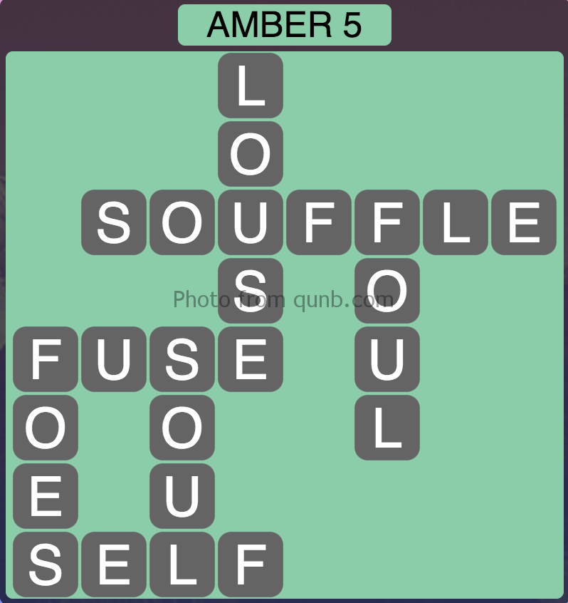 Wordscapes Amber 5 (Level 949) Answers