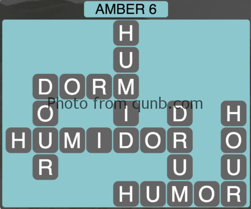 Wordscapes Amber 6 (Level 950) Answers