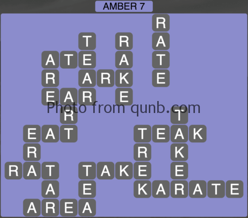 Wordscapes Amber 7 (Level 951) Answers