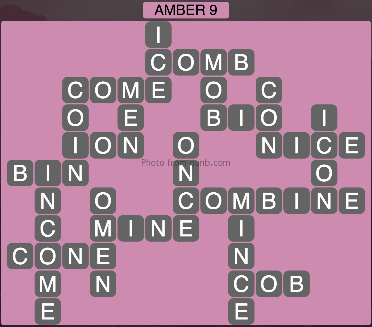 Wordscapes Amber 9 (Level 953) Answers