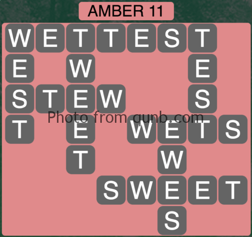 Wordscapes Amber 11 (Level 955) Answers