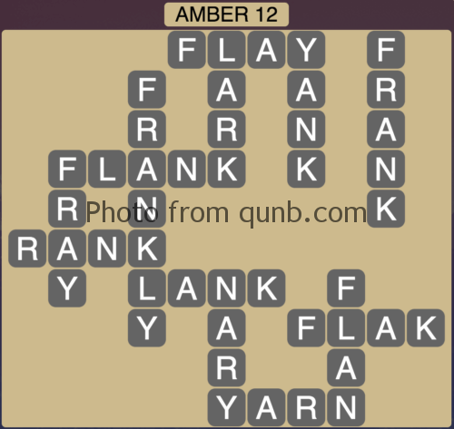 Wordscapes Amber 12 (Level 956) Answers