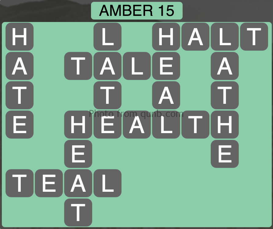 Wordscapes Amber 15 (Level 959) Answers