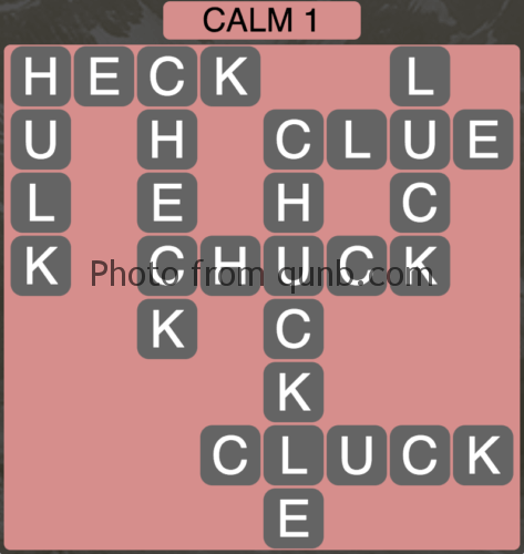 Wordscapes Calm 1 (Level 961) Answers