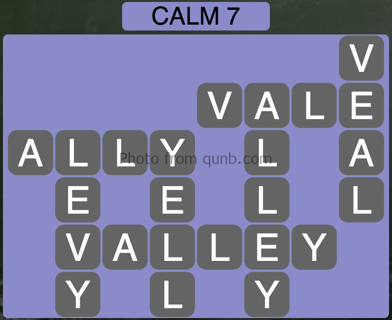 Wordscapes Calm 7 (Level 967) Answers