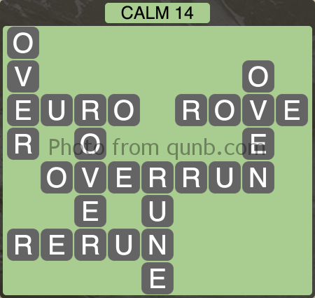 Wordscapes Calm 14 (Level 974) Answers