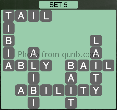 Wordscapes Set 5 (Level 981) Answers