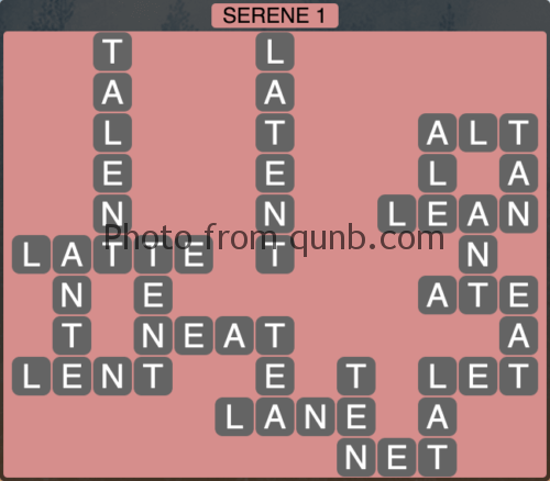 Wordscapes Serene 1 (Level 993) Answers