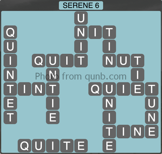 Wordscapes Serene 6 (Level 998) Answers