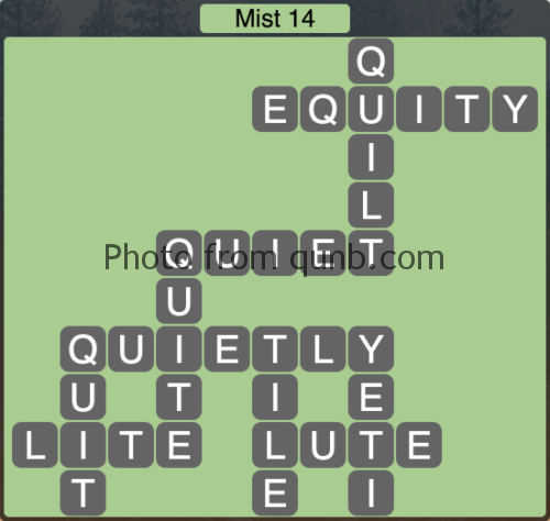 Wordscapes Mist 14 (Level 1134) Answers