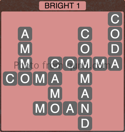Wordscapes Bright 1 (Level 1137) Answers