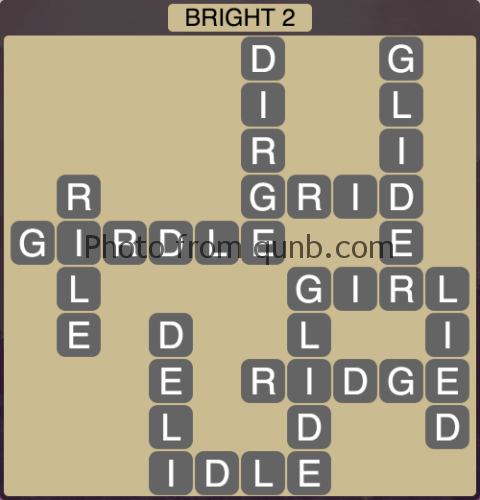 Wordscapes Bright 2 (Level 1138) Answers