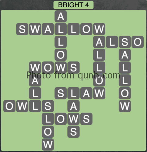 Wordscapes Bright 4 (Level 1140) Answers