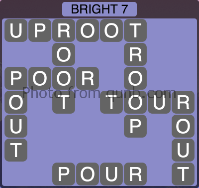 Wordscapes Bright 7 (Level 1143) Answers