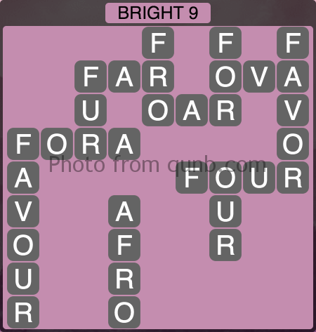 Wordscapes Bright 9 (Level 1145) Answers