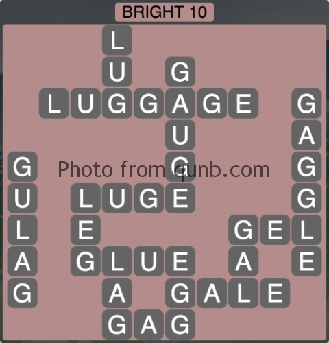 Wordscapes Bright 10 (Level 1146) Answers