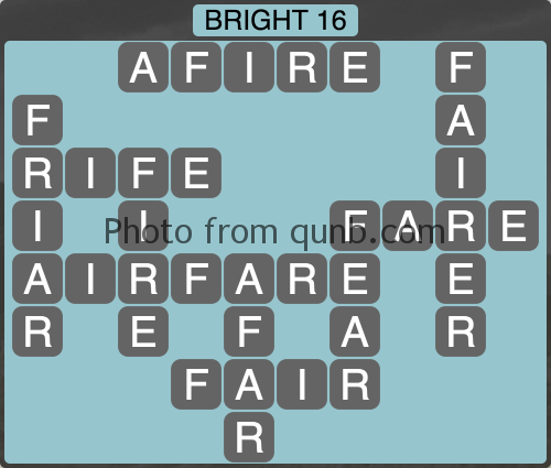 Wordscapes Bright 16 (Level 1152) Answers