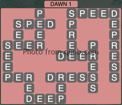 Wordscapes Dawn 1 (Level 1153) Answers