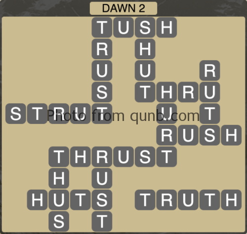 Wordscapes Dawn 2 (Level 1154) Answers