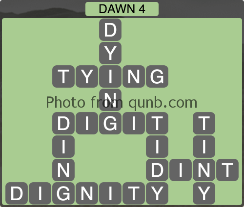 Wordscapes Dawn 4 (Level 1156) Answers