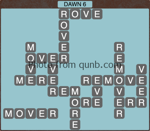 Wordscapes Dawn 6 (Level 1158) Answers