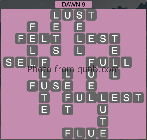 Wordscapes Dawn 9 (Level 1161) Answers