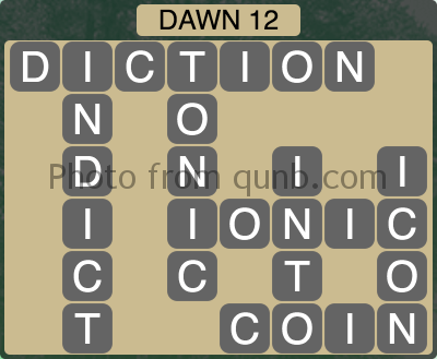 Wordscapes Dawn 12 (Level 1164) Answers
