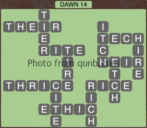 Wordscapes Dawn 14 (Level 1166) Answers