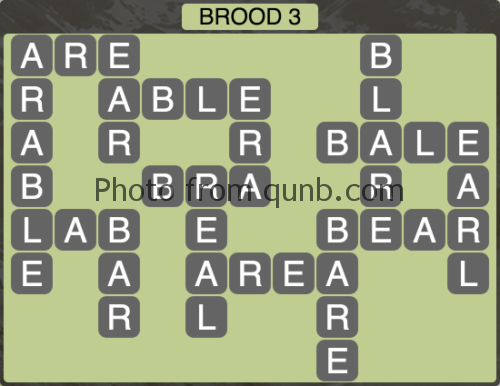 Wordscapes Brood 3 (Level 1171) Answers