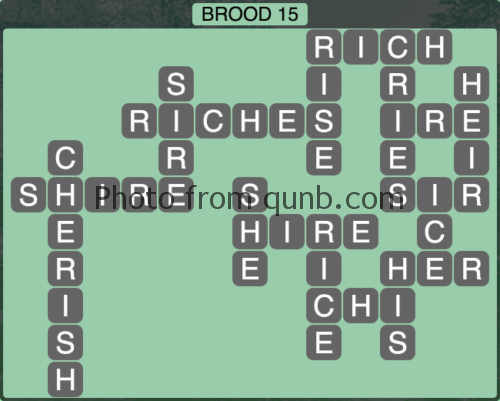 Wordscapes Brood 15 (Level 1183) Answers