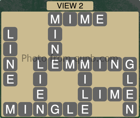 Wordscapes VIEW 2 (Level 1186) Answers