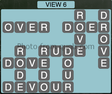 Wordscapes VIEW 6 (Level 1190) Answers