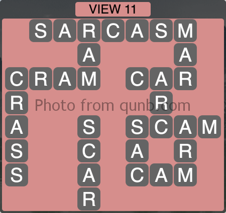 Wordscapes VIEW 11 (Level 1195) Answers