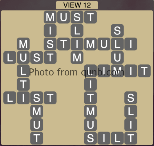 Wordscapes VIEW 12 (Level 1196) Answers