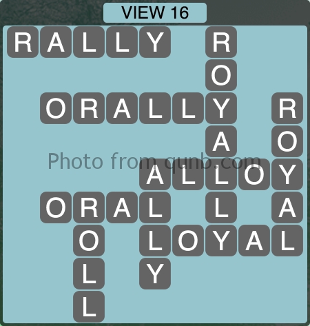 Wordscapes VIEW 16 (Level 1200) Answers
