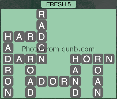 Wordscapes Fresh 5 (Level 1205) Answers