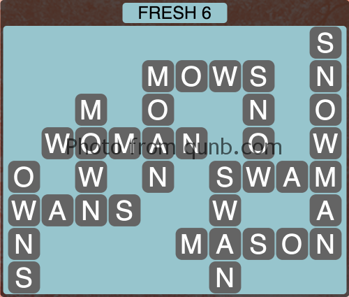 Wordscapes Fresh 6 (Level 1206) Answers