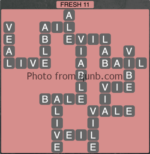 Wordscapes Fresh 11 (Level 1211) Answers