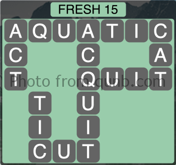 Wordscapes Fresh 15 (Level 1215) Answers